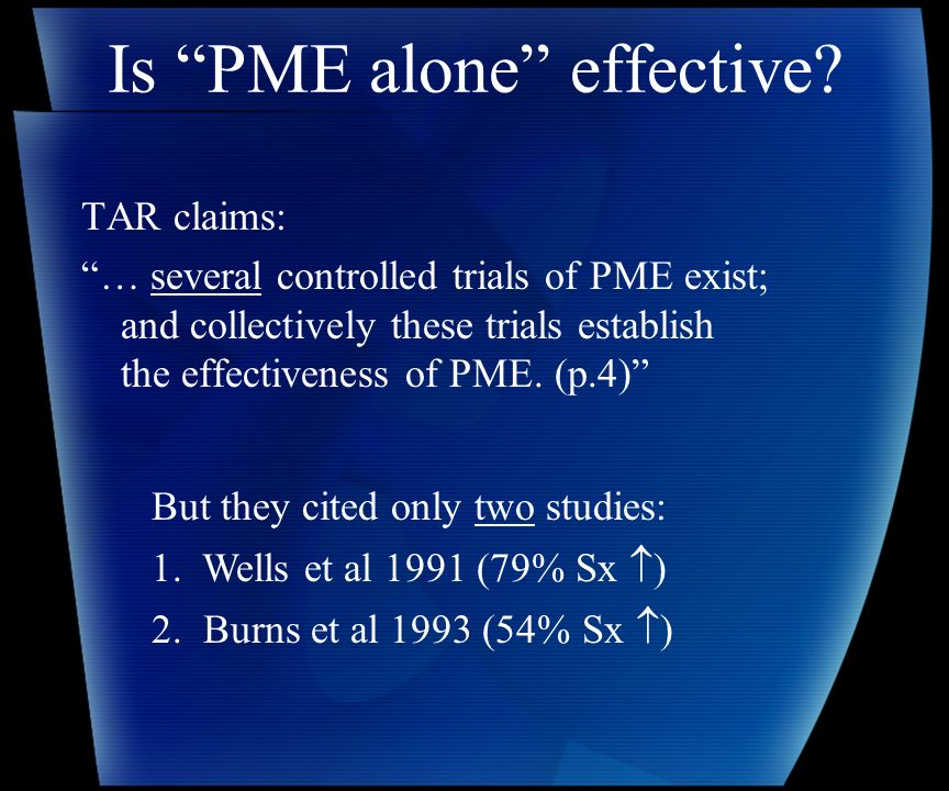 Is PME alone effective.