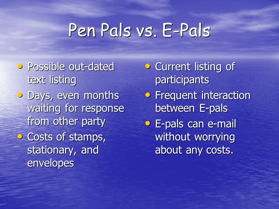 Pen Pals vs.
