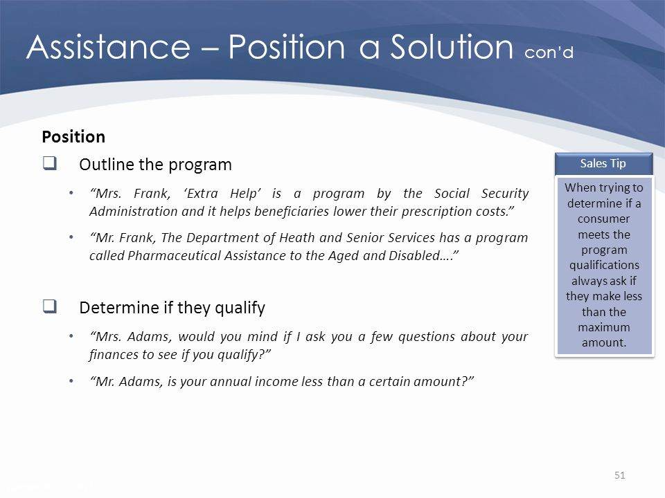 Revised 02/02/2011 Assistance – Position a Solution cond Position Outline the program Mrs.