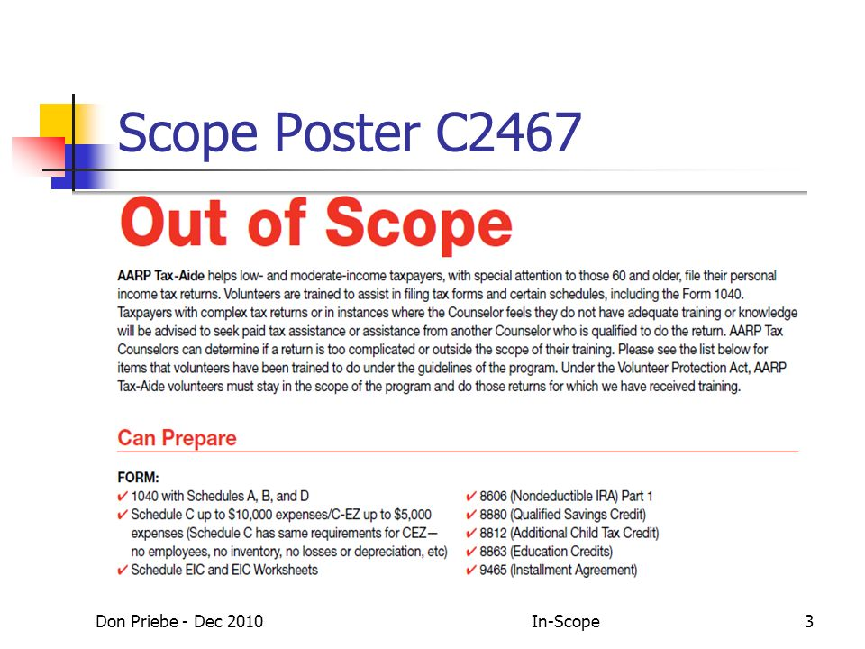 Don Priebe - Dec 2010In-Scope3 Scope Poster C2467