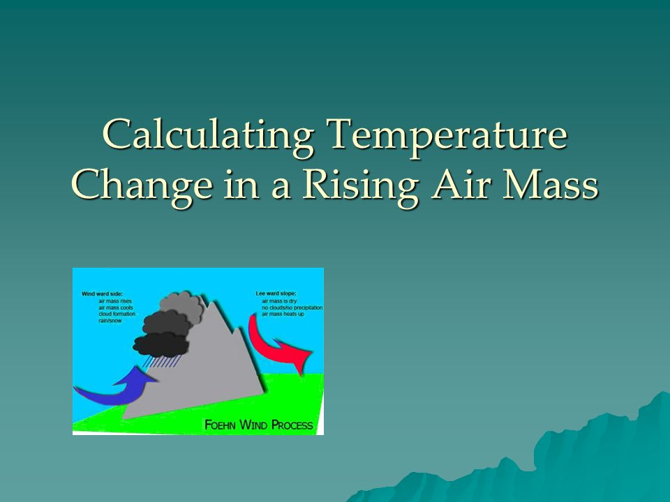 Calculating Temperature Change in a Rising Air Mass