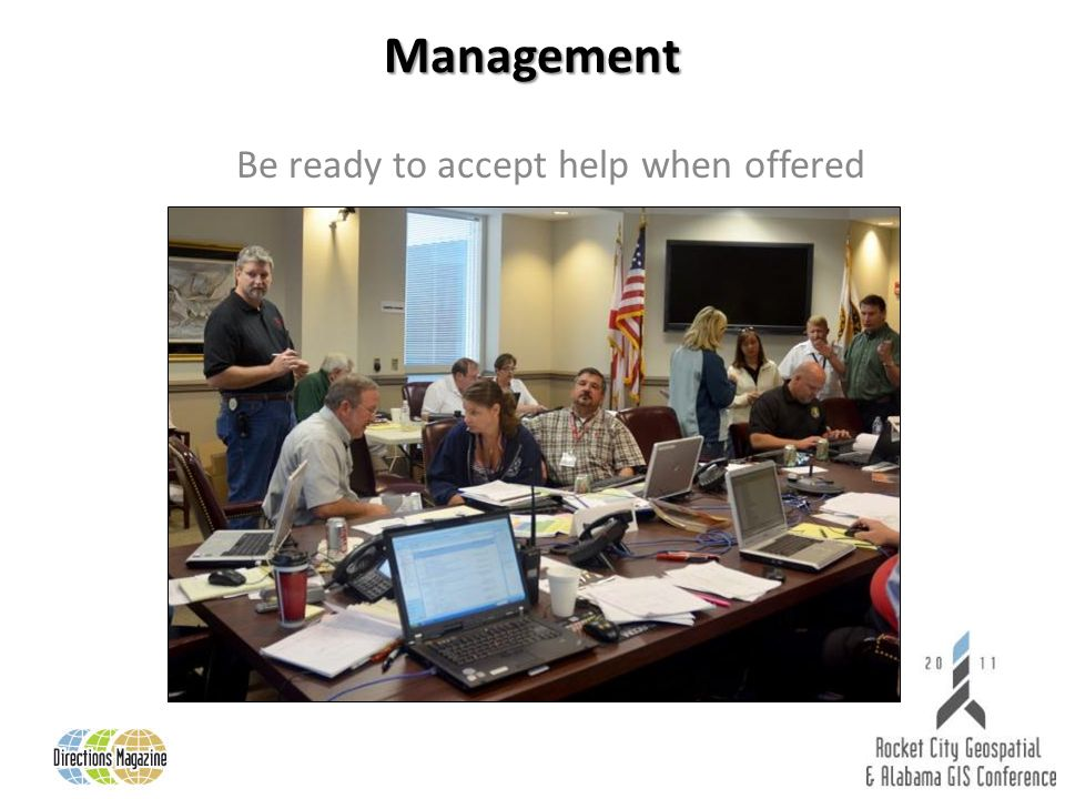Management Be ready to accept help when offered