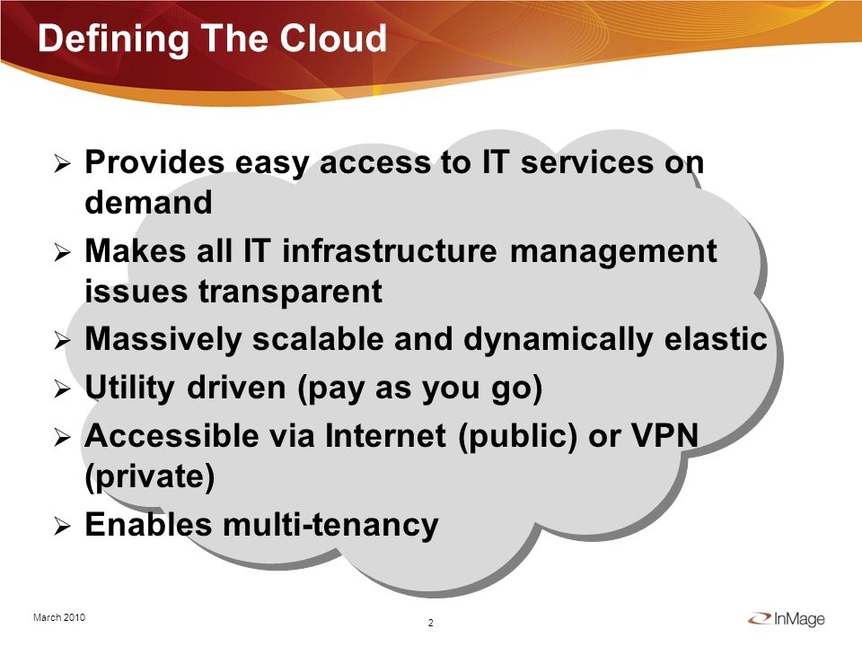 1/17/20141 Leveraging Cloudbursting To Drive Down IT Costs Eric Burgener Senior Vice President, Product Marketing March 9, 2010