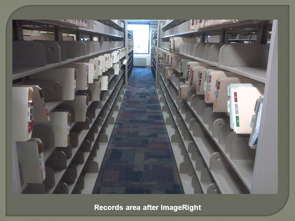 Records area after ImageRight