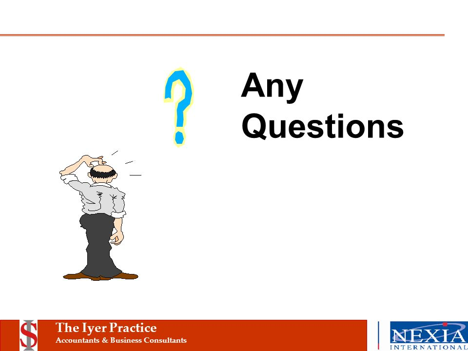 The Iyer Practice Accountants & Business Consultants Any Questions