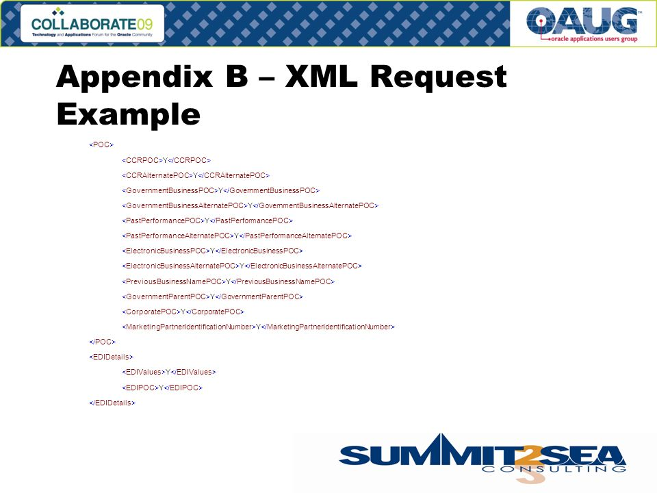 Appendix B – XML Request Example Y Y