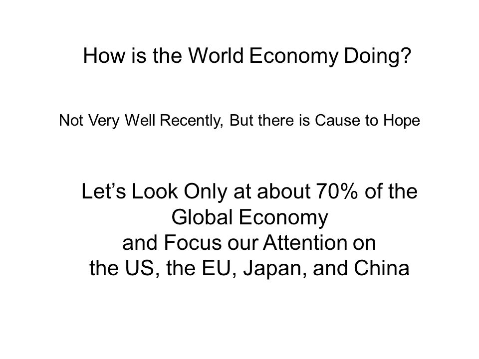 How is the World Economy Doing.