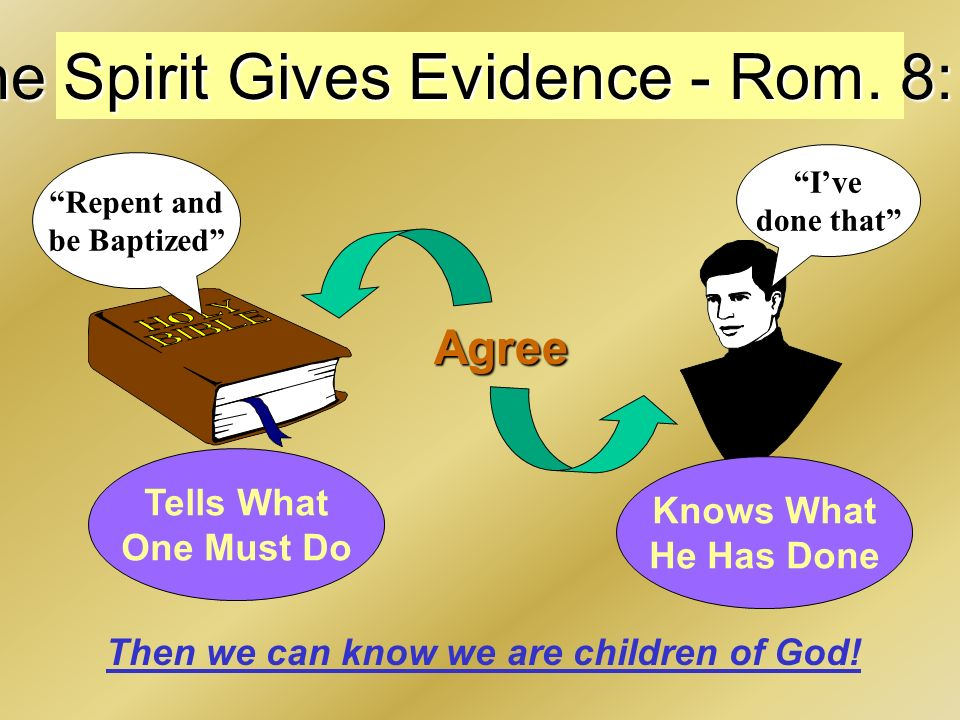 The Spirit Gives Evidence - Rom.