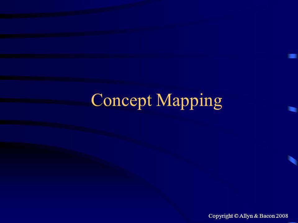Copyright © Allyn & Bacon 2008 Concept Mapping