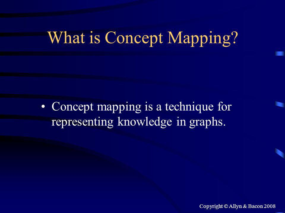 Copyright © Allyn & Bacon 2008 What is Concept Mapping.