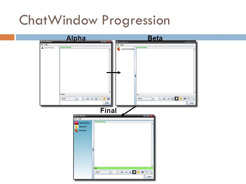 ChatWindow Progression AlphaBeta Final