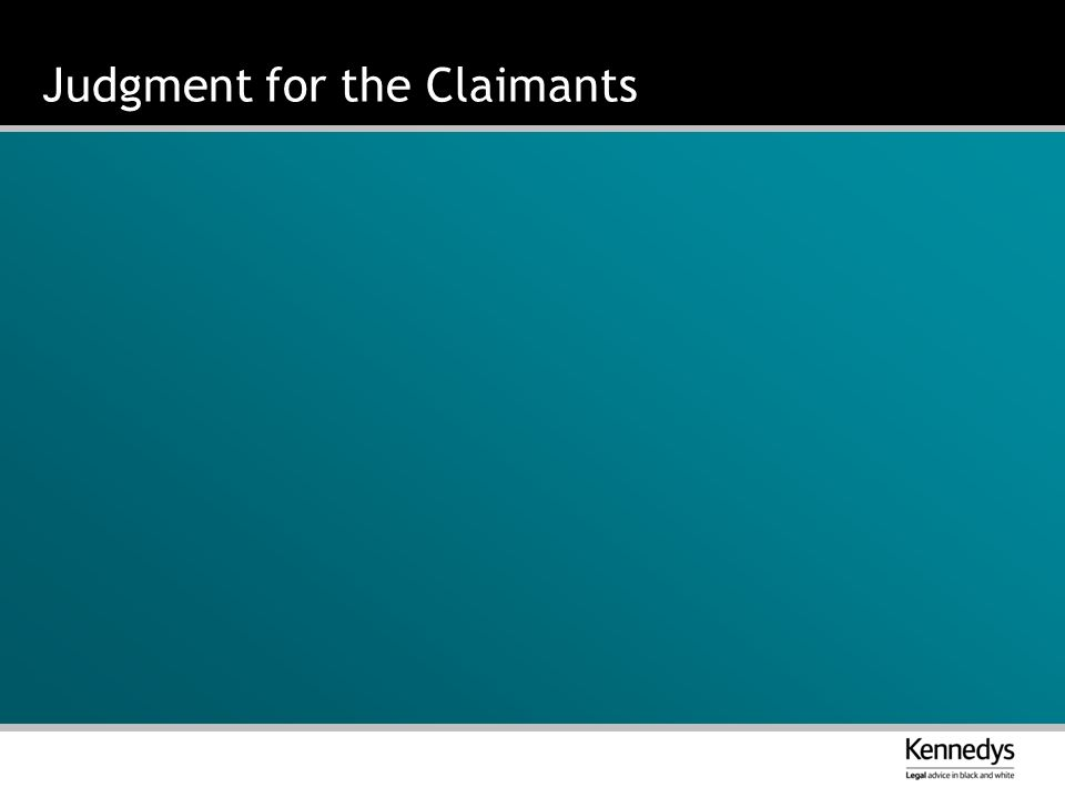 Judgment for the Claimants