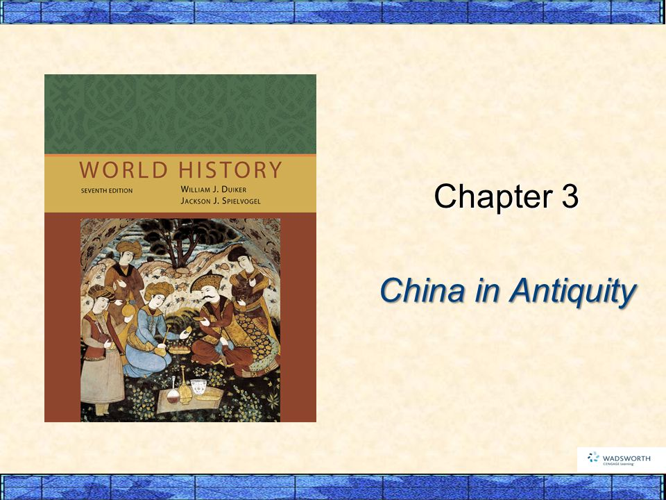 China in Antiquity Chapter 3