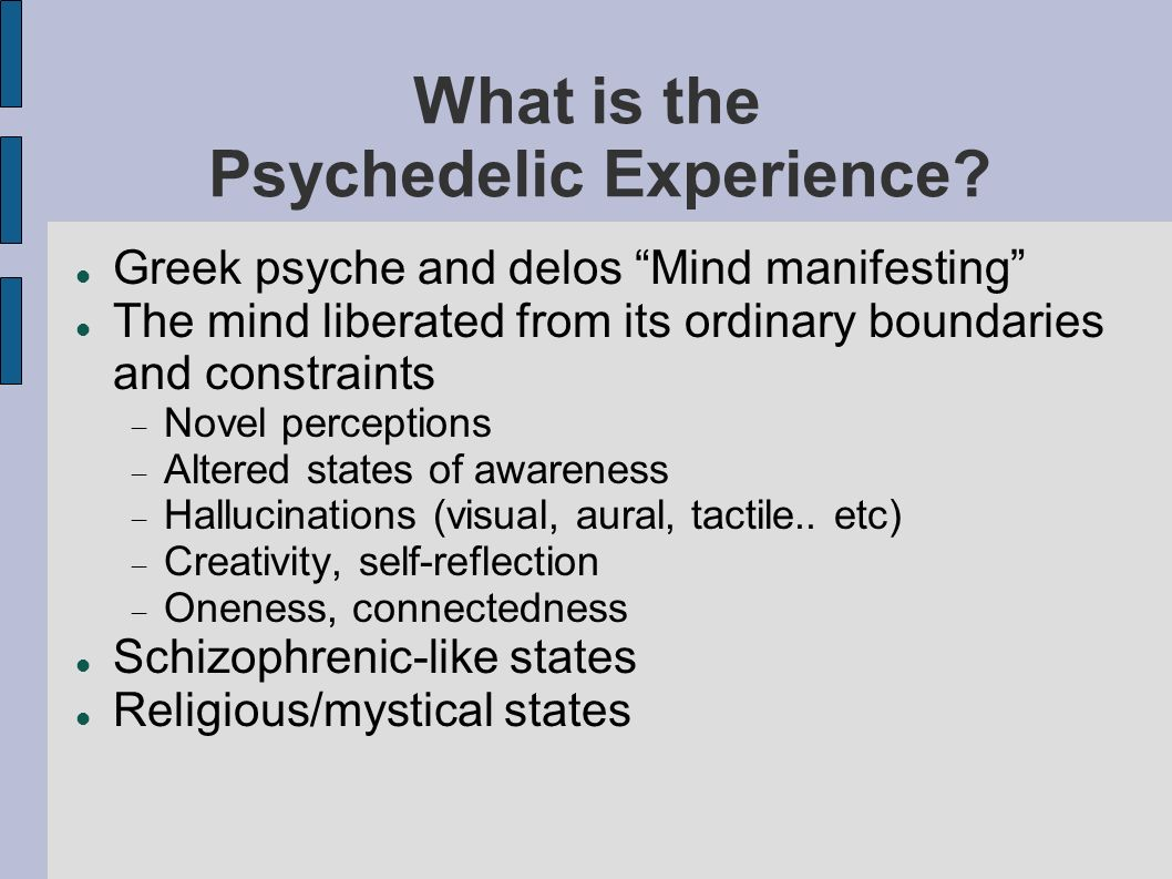 What is the Psychedelic Experience.