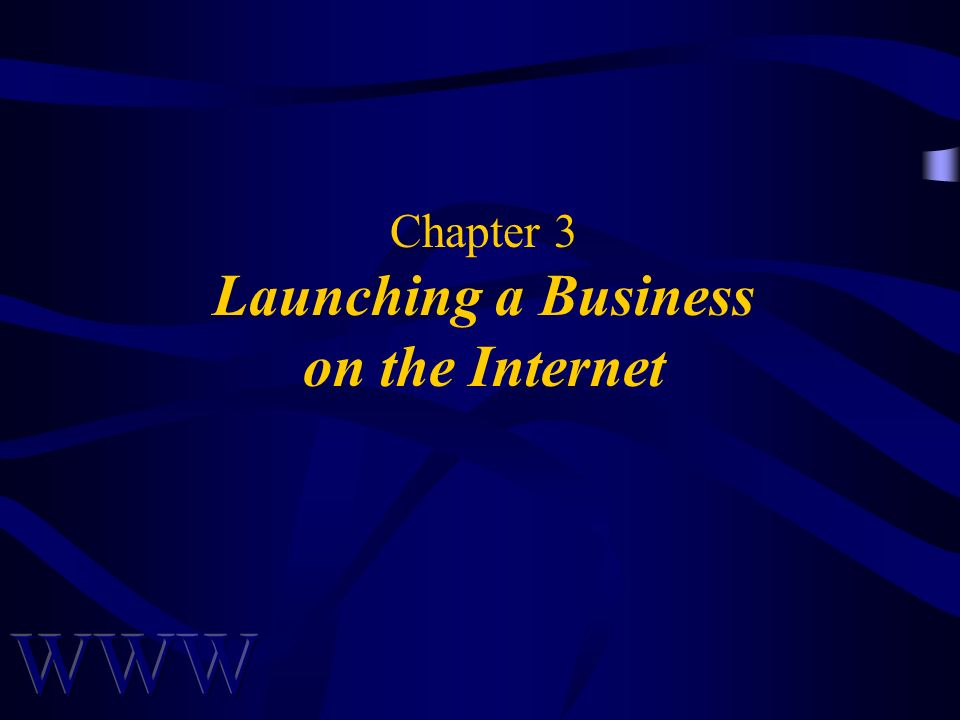 Chapter 3 Launching a Business on the Internet