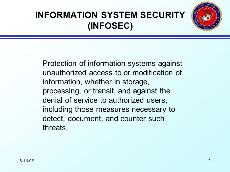8/16/051 SECURITY AWARENESS TRAINING