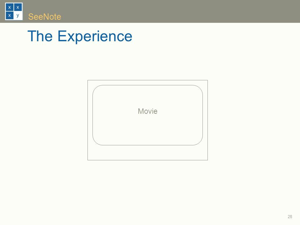 28 SeeNote The Experience Movie
