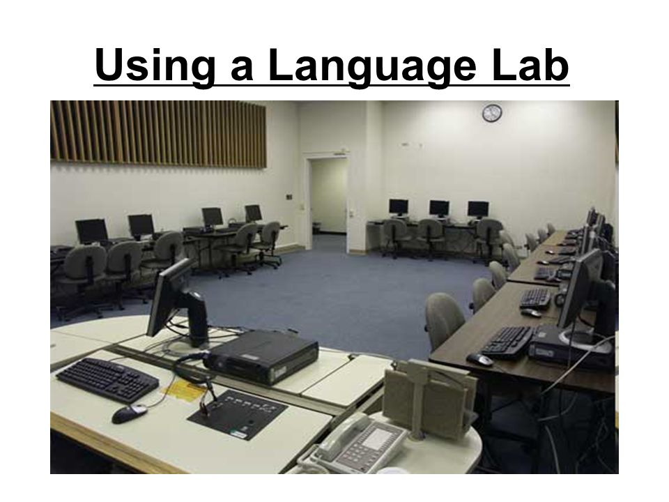 Using a Language Lab