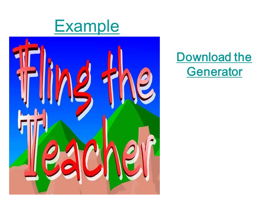 Example Download the Generator
