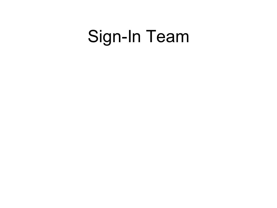 Sign-In Team