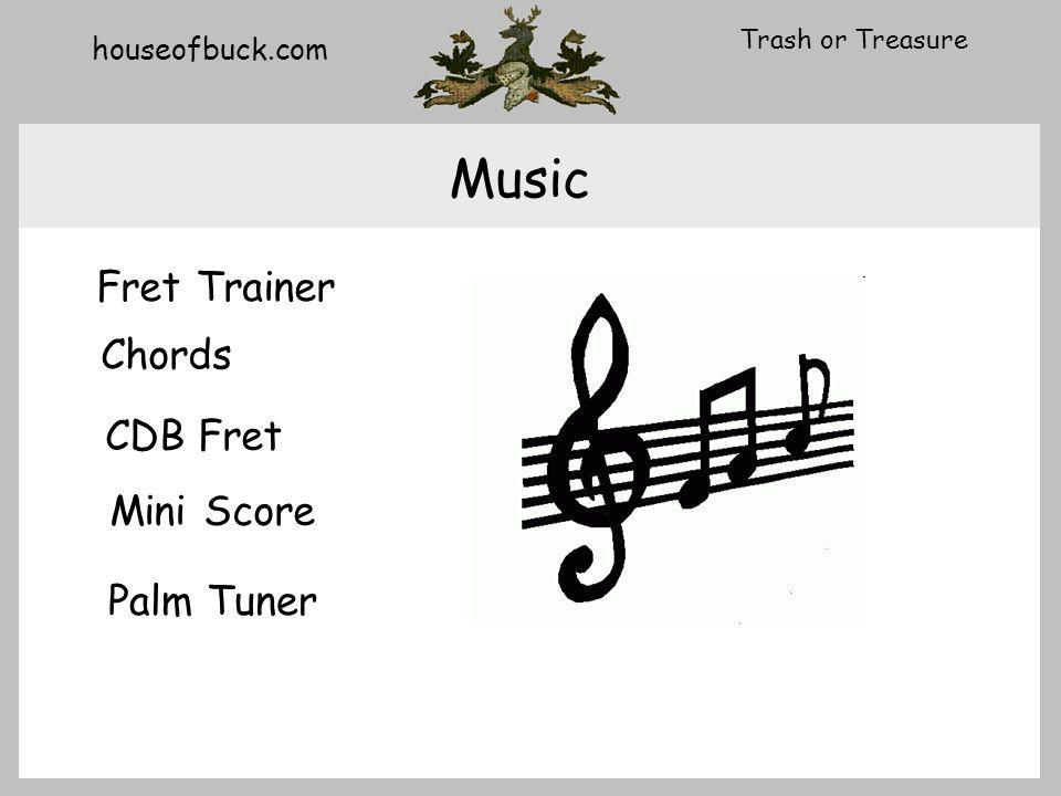 houseofbuck.com Trash or Treasure Music Fret Trainer CDB Fret Mini Score Palm Tuner Chords
