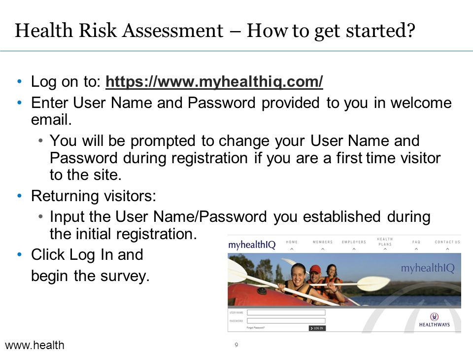 www.health ways.com Health Risk Assessment – How to get started.