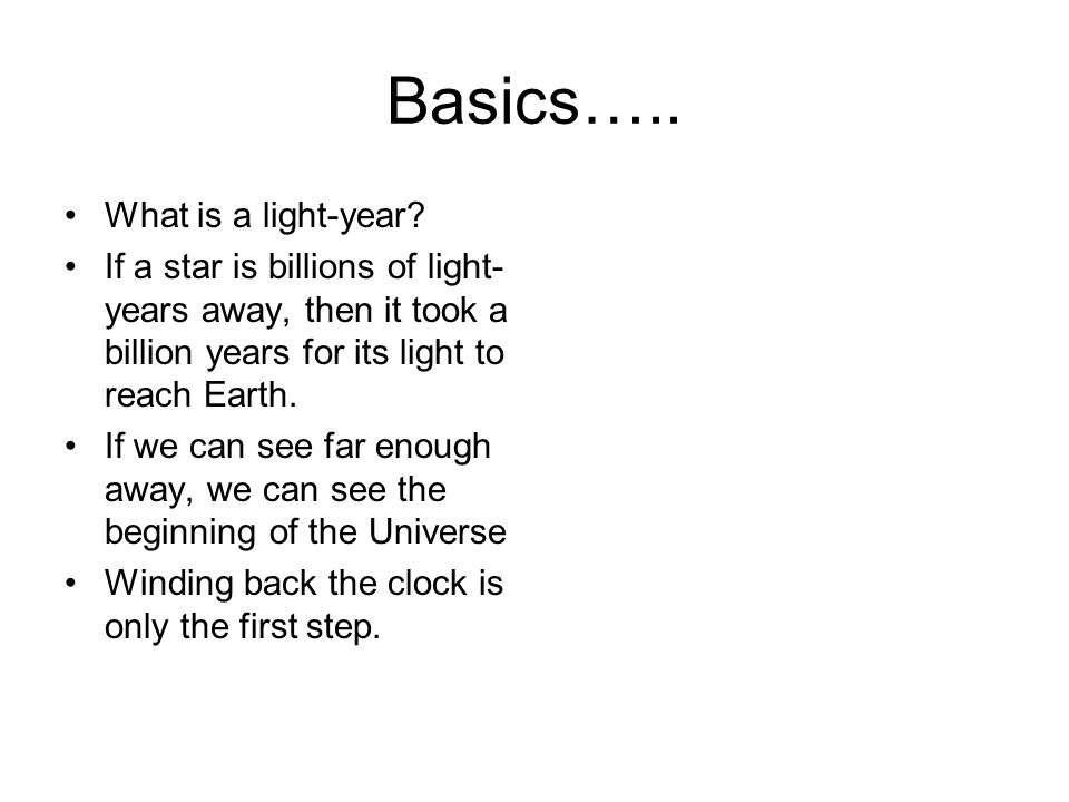 Basics….. What is a light-year.