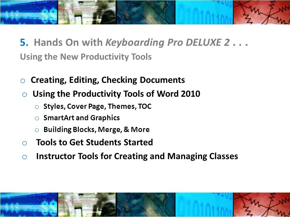 5. Hands On with Keyboarding Pro DELUXE 2...