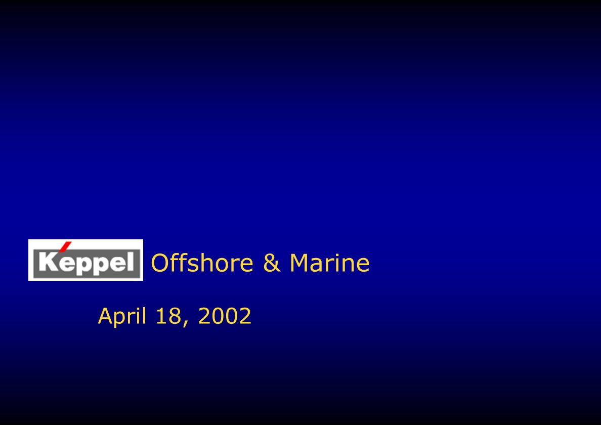 Offshore & Marine April 18, 2002