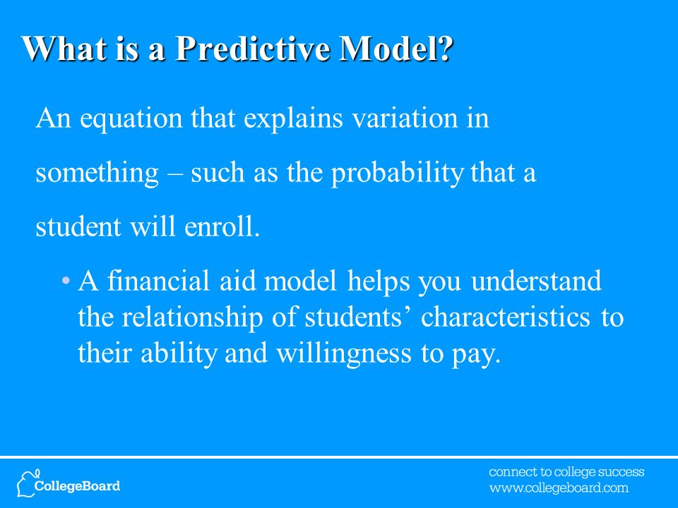 What is a Predictive Model.