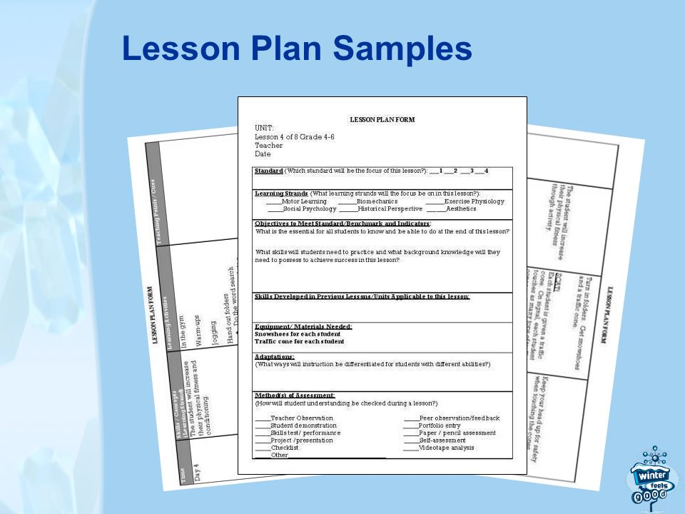 Lesson Plan Samples
