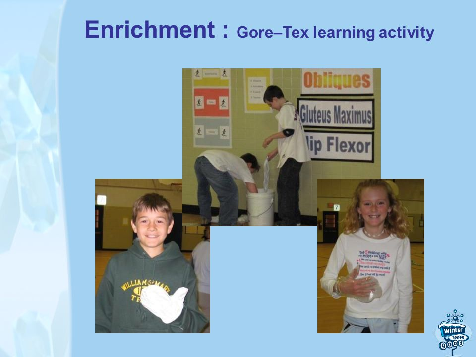 Enrichment : Gore–Tex learning activity