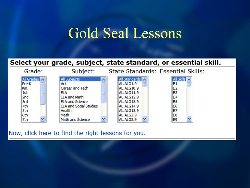 Gold Seal Lessons