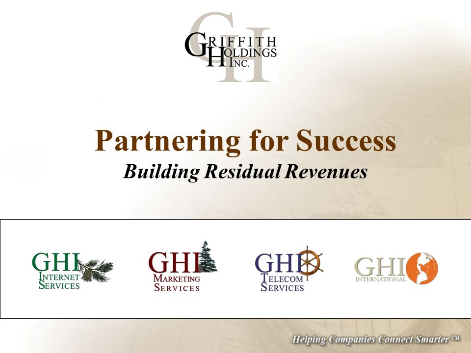 Partnering for Success Building Residual Revenues
