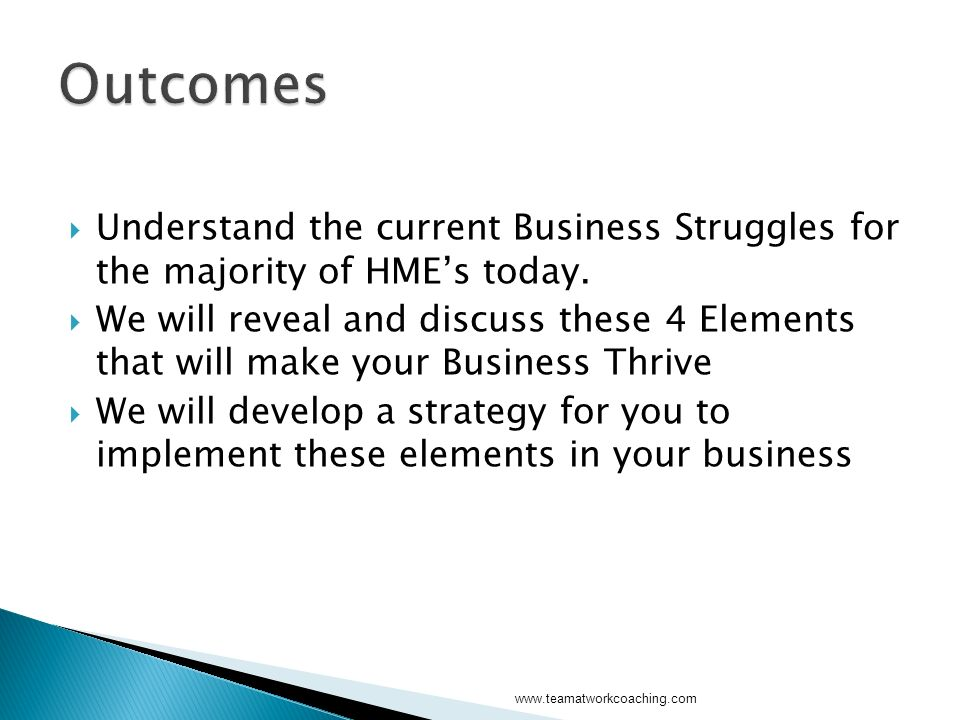 Understand the current Business Struggles for the majority of HMEs today.
