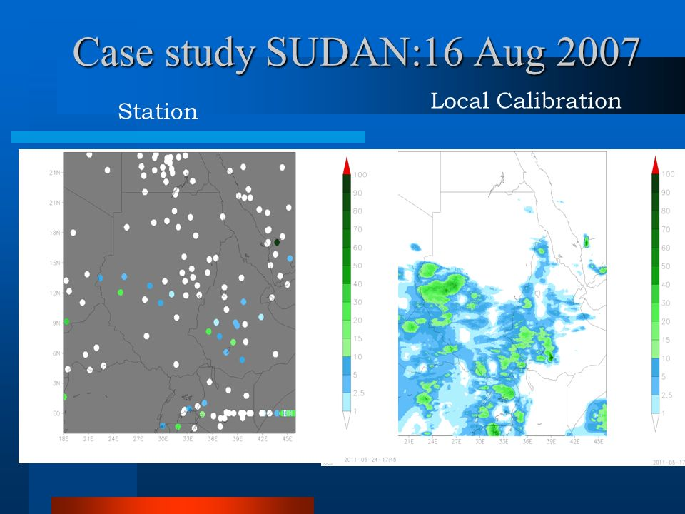 Case study SUDAN:16 Aug 2007 Station Local Calibration