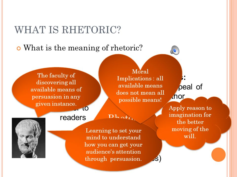 WHAT IS RHETORIC. What is the meaning of rhetoric.