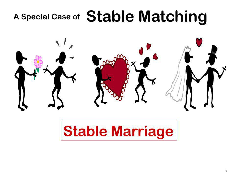 1 Stable Matching A Special Case of Stable Marriage