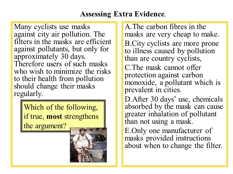 Many cyclists use masks against city air pollution.