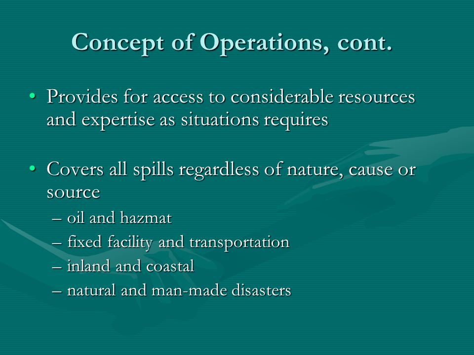 Concept of Operations, cont.