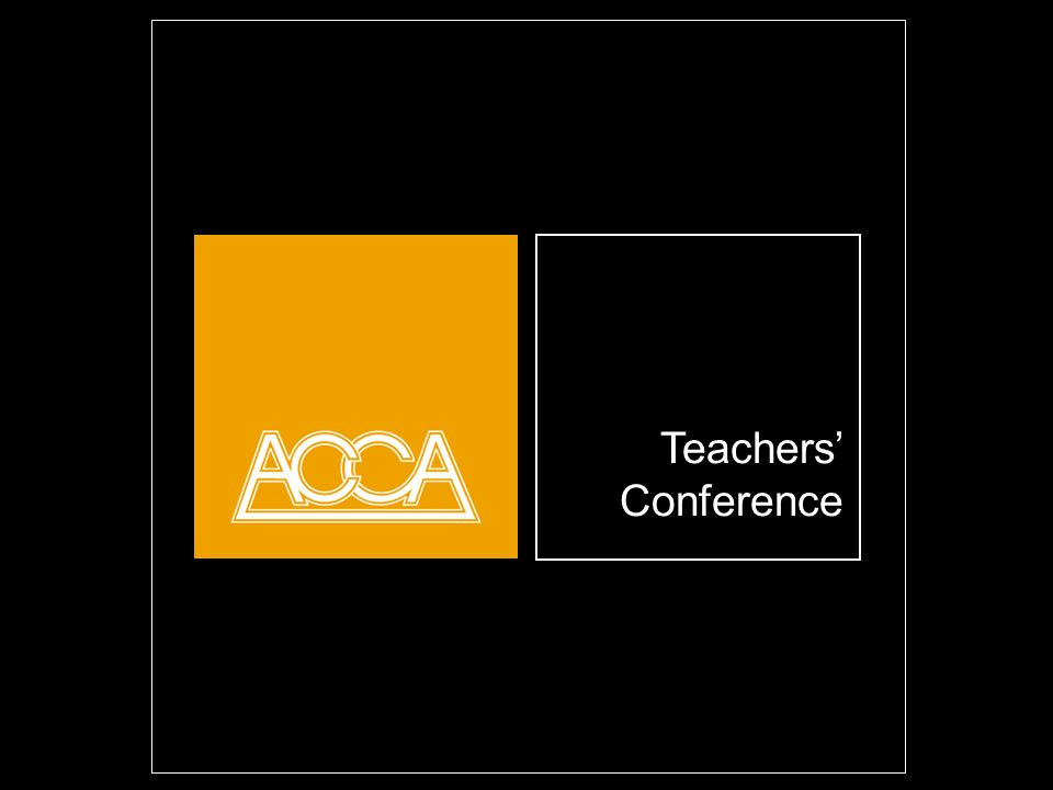 Teachers Conference Opening title slide. Highlight and overwrite dummy title.