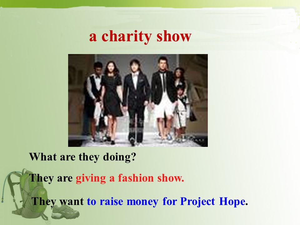 Project Hope What can we do to help them. We can donate things to them.