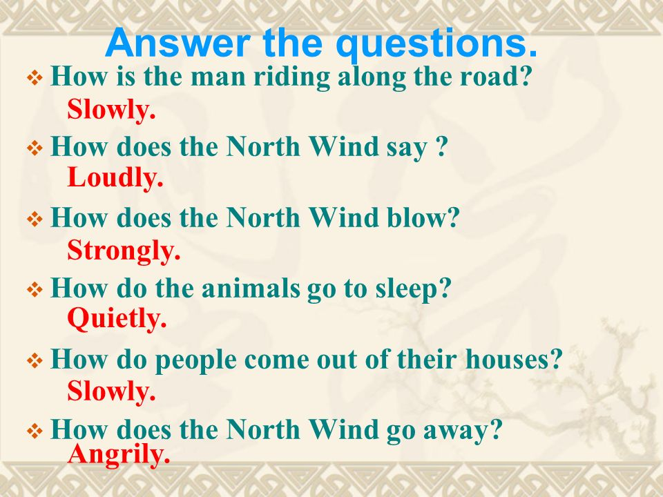 Answer the questions. How is the man riding along the road.