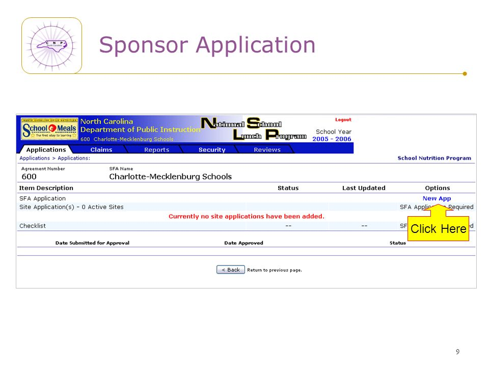 9 Sponsor Application Click Here