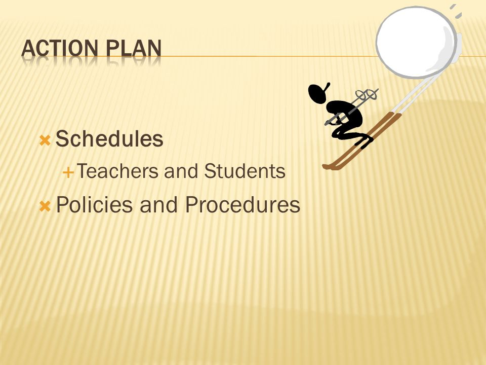 Schedules Teachers and Students Policies and Procedures