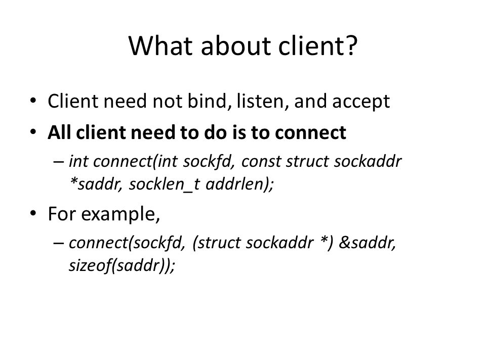 What about client.