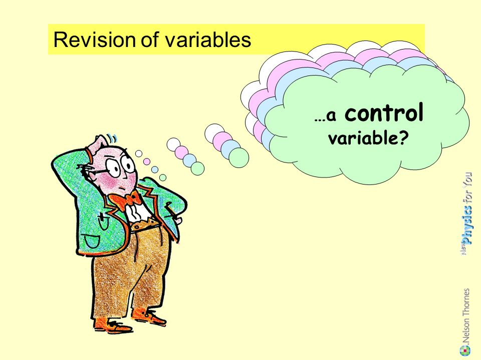About different types of variables, How to identify them when doing your practical work.
