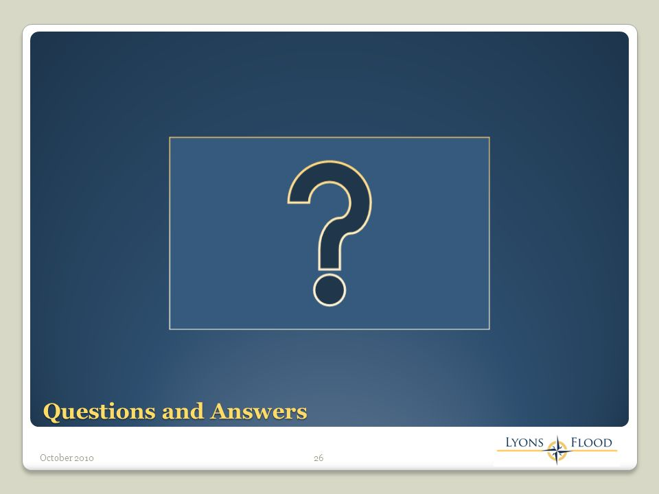 Questions and Answers 26October 2010