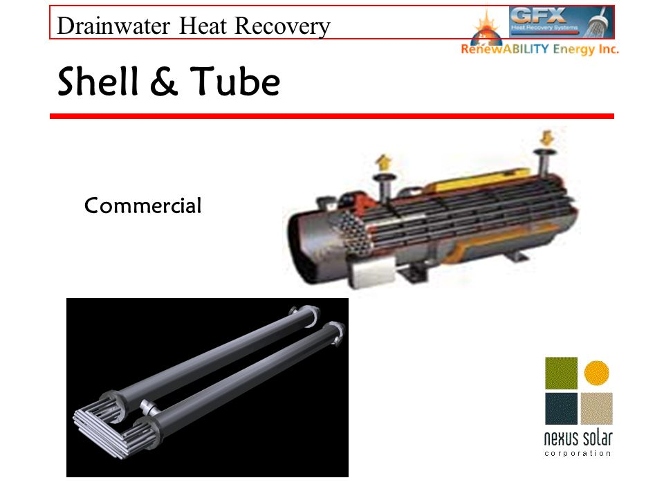 Drainwater Heat Recovery Shell & Tube Commercial
