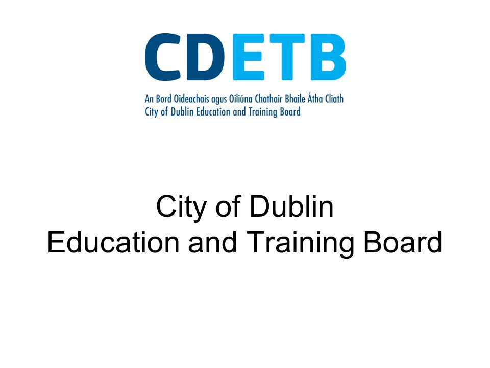 City of Dublin Education and Training Board
